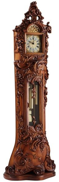 awesome detailed antique Grandfather clock