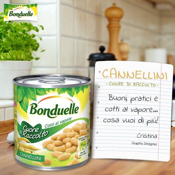 Dalla forma allungata e dal sapore delicato, i #fagioli #cannellini #Bonduelle, sono cotti al vapore e selezionati con estrema cura per far arrivare in tavola un prodotto sano e prelibato.  Per saperne di più, guarda qui: http://www.bonduelle.it/prodotti/i-fagioli/cannellini-cotti-al-vapore/