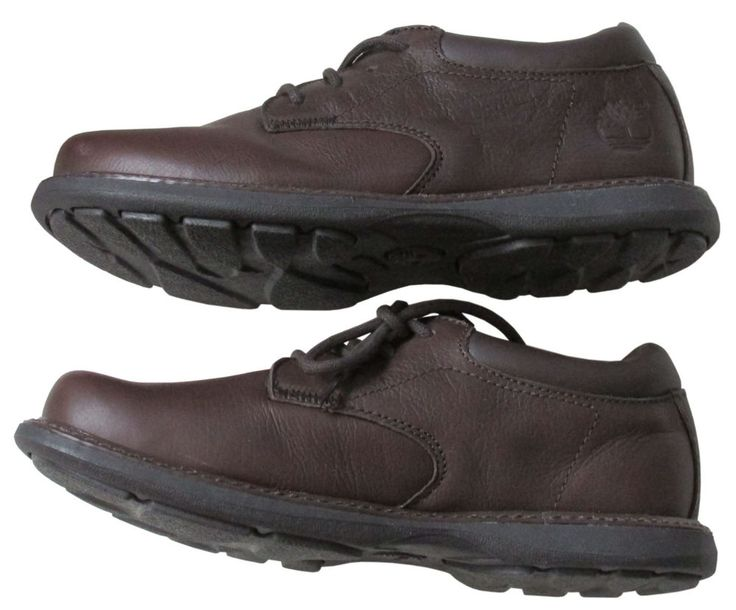 Boys School Shoes Timberland Brown Leather Youth 7 M New #Timberland #Oxfords