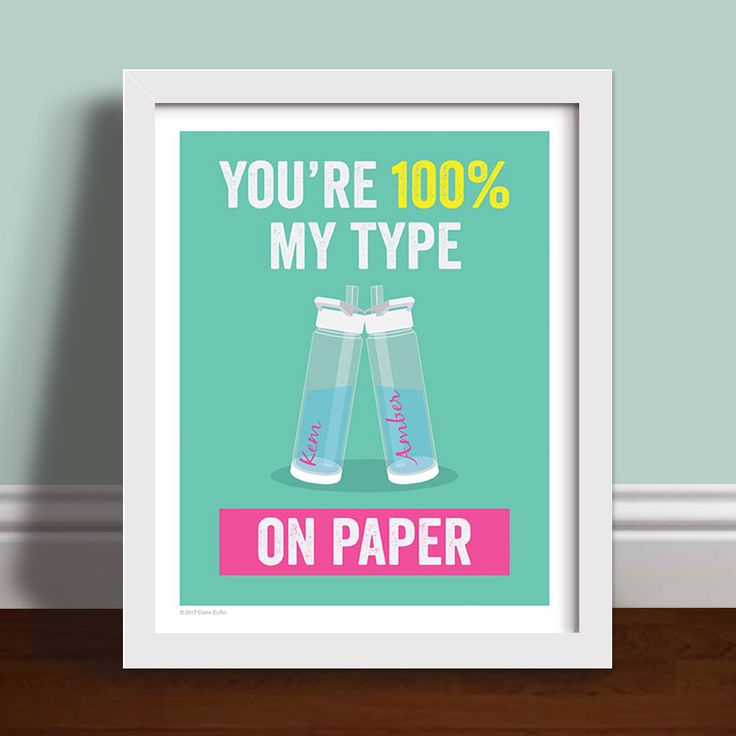 100% My Type On Paper - Personalised Love Island Water Bottles Art Print Poster by OperationPumpkin on Etsy https://www.etsy.com/uk/listing/546167187/100-my-type-on-paper-personalised-love