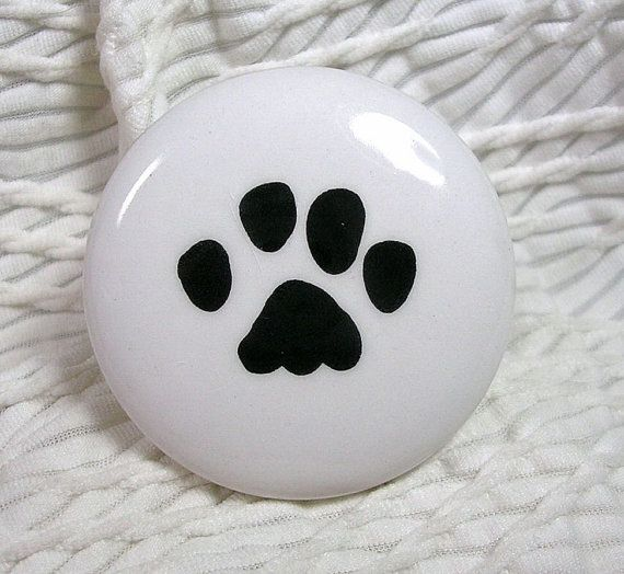 Cat Or Dog Paw Print Ceramic Drawer Knobs Or By