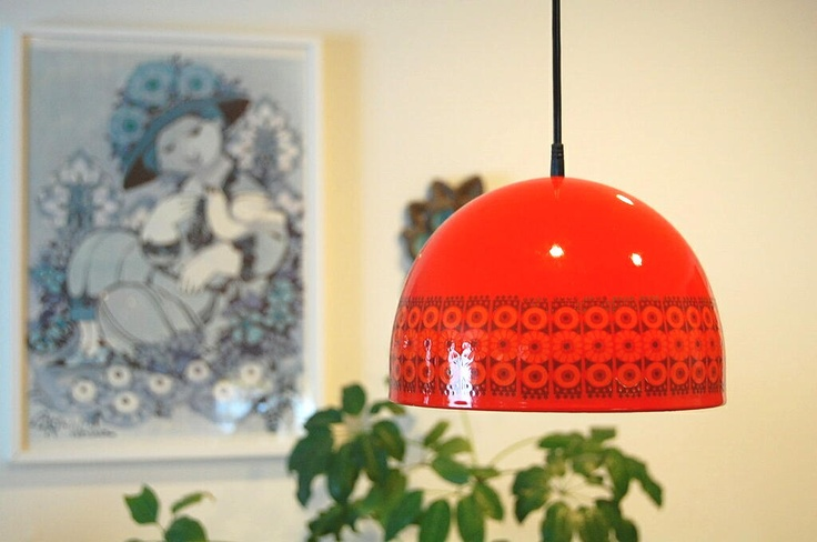 Finel enamel lamp by Esteri Tomula
