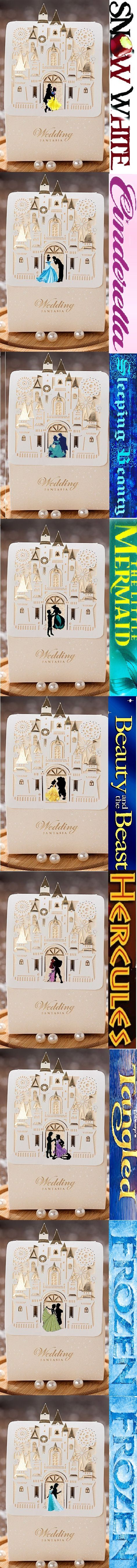 ALL Available individually on Ebay.   Search: Disney Wedding Gift Favor Boxes (Princess) for easier accessibility. More to come!! http://www.ebay.com/itm/Disney-wedding-candy-gift-favor-boxes-Sleeping-Beauty-Package-50pieces-per-set-/131685906507?hash=item1ea917784b:g:d6AAAOSwnGJWTU87