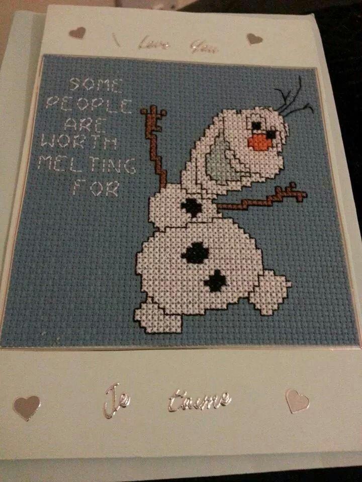 Cute olaf card
