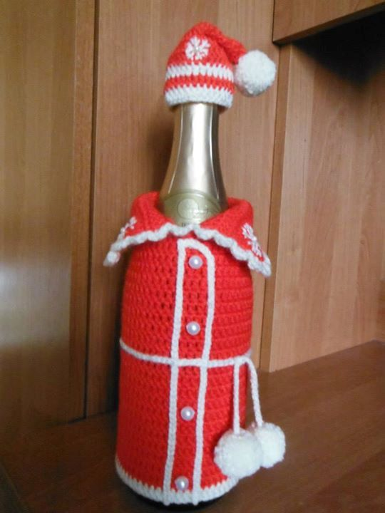 Christmas decoration for wine or champagne bottle by Vilinga