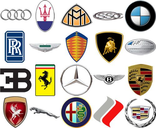 High end car brands by their logos-Bloom