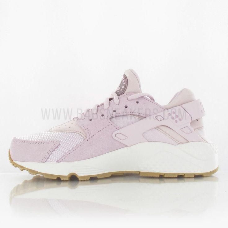 Nike Air Huarache Run Textile Femme rose