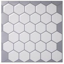 ベストセラーパールホワイト六角タイル3dモザイクステッカー浴室壁紙