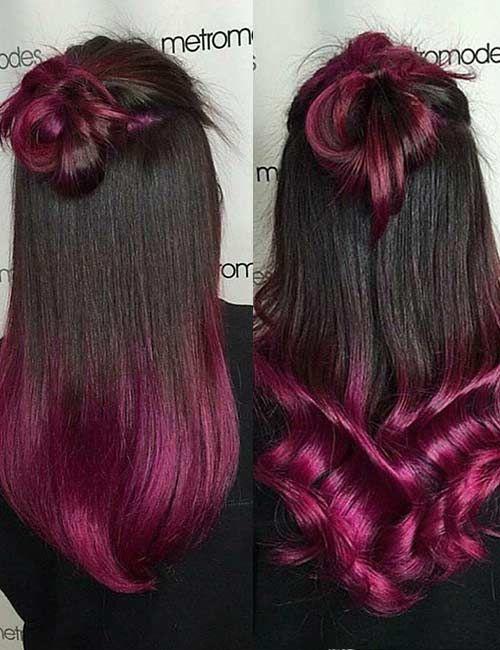 20 Breathtaking Purple Ombre Hair Color Ideas Hair Ombre Hair