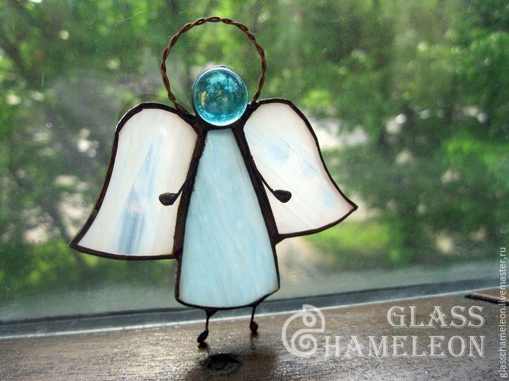 Изготовление витражного украшения «Ангел» в технике «тиффани» - Ярмарка Мастеров - ручная работа, handmade