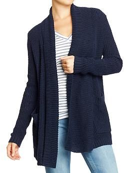 Women's Textured Open-Front Sweaters | Old Navy