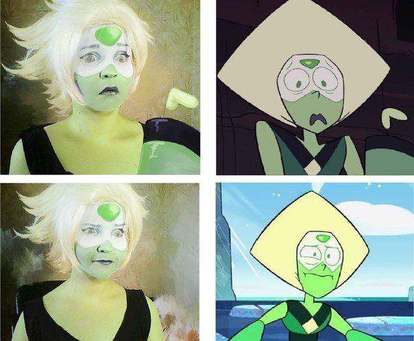 Peridot Cosplay SU (Steven Universe) Omg hahahahaha she really nailed it XD.
