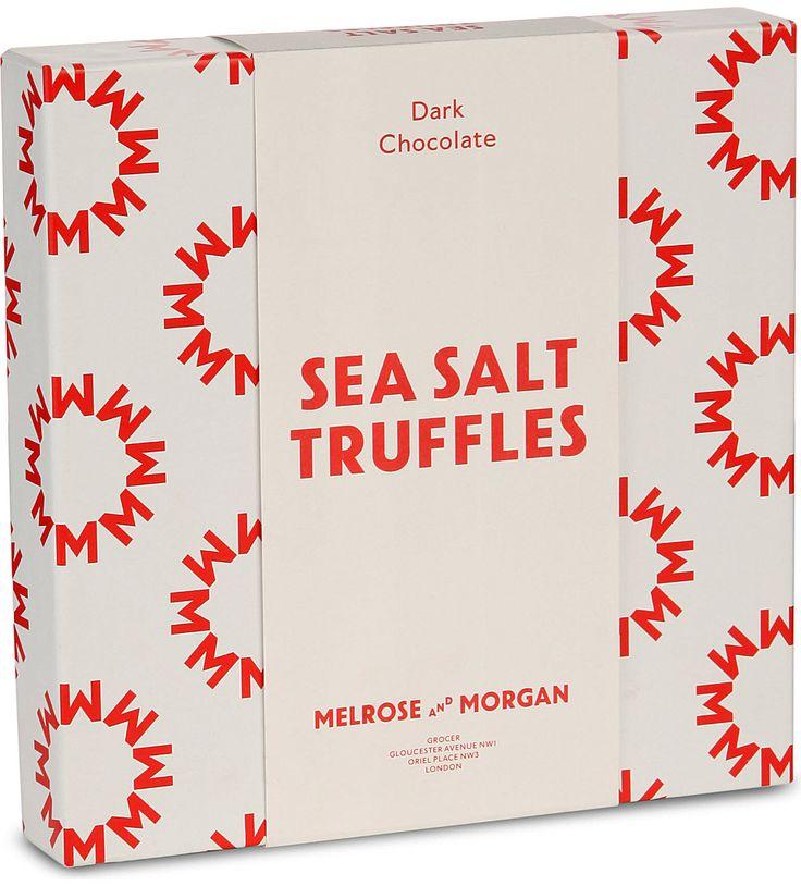MELROSE & MORGAN - Dark chocolate sea salt & caramel truffles 175g   Selfridges.com