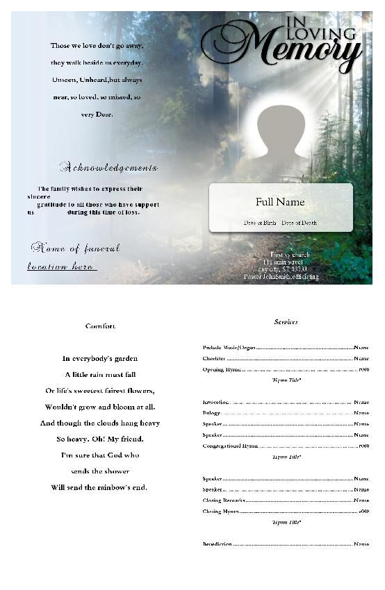 91 best Funeral Program Template images on Pinterest Christmas - funeral obituary template