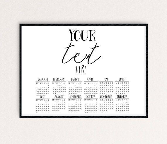 Custom Calendar 2017 custom calendar calendar by SoulPrintables