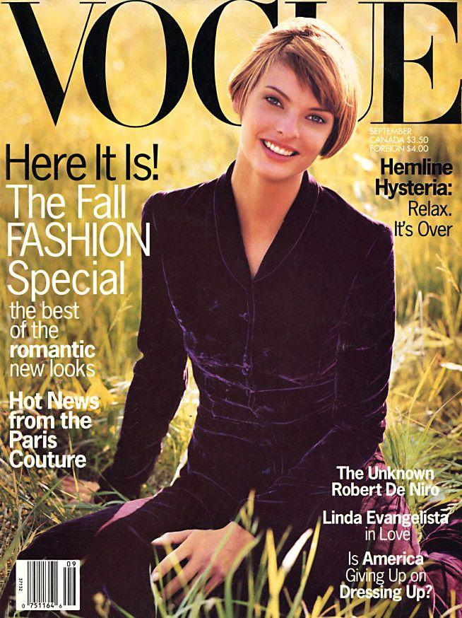 Vogue US September 1993 - Linda Evangelista | vogue covers ...