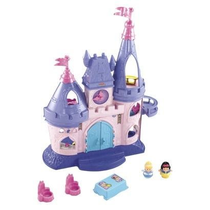 Little People Disney Princess Songs Palace. Never thought I'd actually want to buy them a toy, but they would LOVE this!