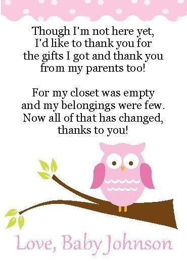 10 Adorable Owl - Baby Shower Thank You Cards #Unbranded #BabyShowerThankYouCards
