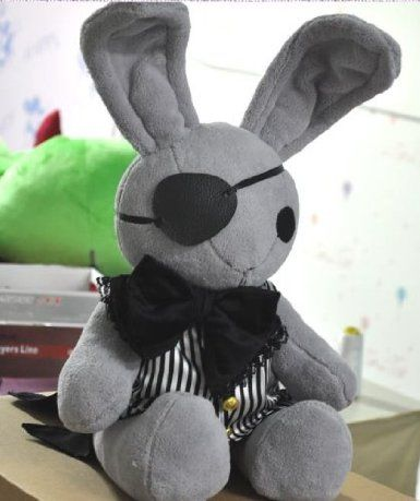 Amazon.com: Black Butler Kuroshitsuji Ciel Phantomhive Rabbit Cosplay Plush Doll: Toys & Games  I wonder if i could make this...  $72.99