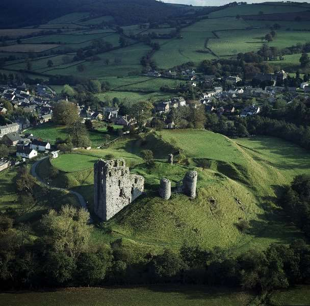 Clun is an abandoned Castle about 6 miles from Hopton House in Shropshire, England. The ruins are in a beautiful setting by the River Clun
