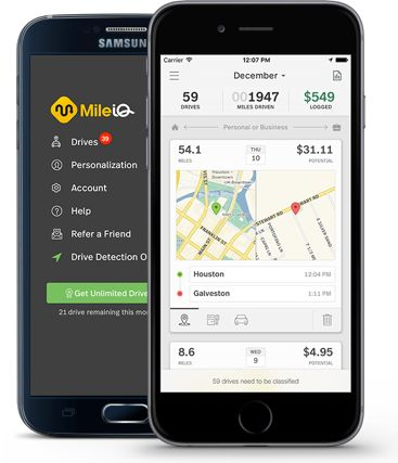 Mile IQ app for tracking mileage When deciding to drive for a rideshare service, there are a lot of tax implications to be aware of to avoid a tax-time headache.  #uber