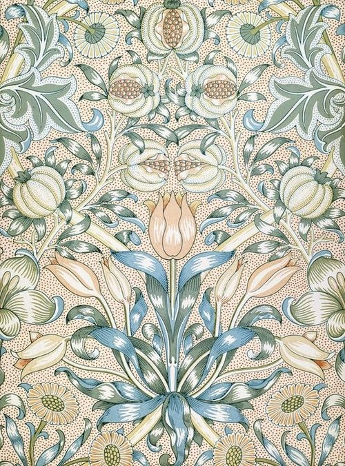 If you want it..then you shall have it: Lilys and Pomegranates William Morris,(wallpaper design),