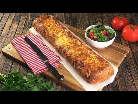 A different take on lasagna — served in a baguette! - YouTube
