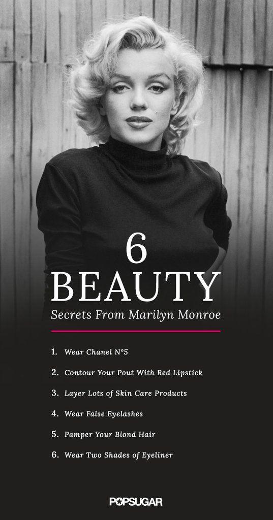 6 Beauty Tricks to Make You a Classic Knockout Like Marilyn Monroe