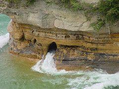 Miners Castle in Munising, Michigan, USA-in the upper peninsula of Michigan on…