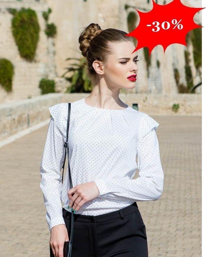 http://ift.tt/2g2Oe8j   Damska bluzka koszulowa w groszki w stylu retro  Idealna na specjalne okazje oraz do pracy