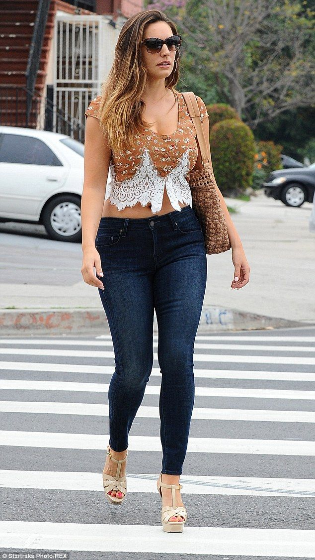 Simply stylish: Kelly Brook was keen to start showing off the results off her…