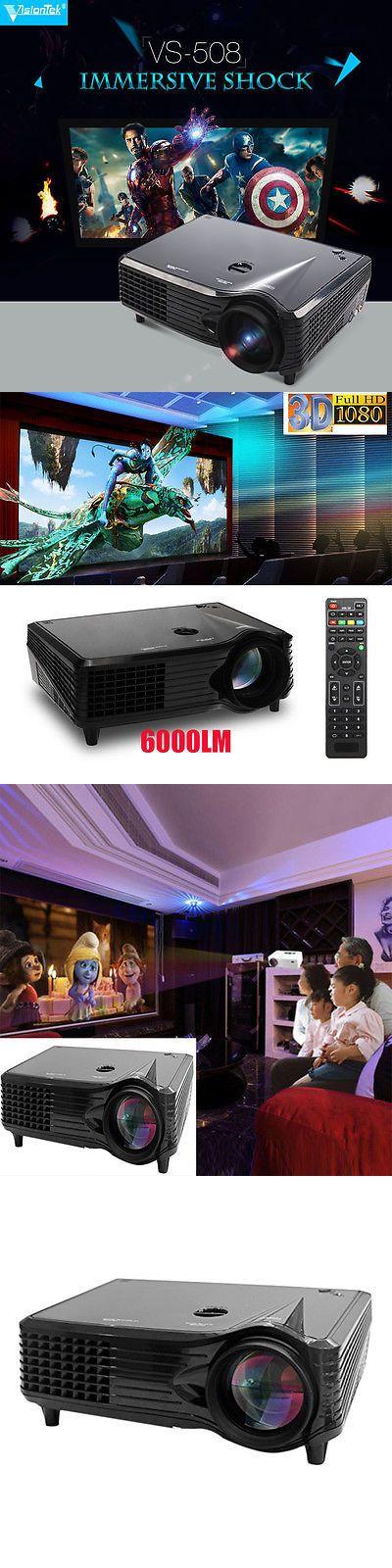 Home Theater Projectors: 6000 Lumens Hd 1080P Wxga (1280X800) 3D Lcd Led Home Cinema Theater Projector Oy BUY IT NOW ONLY: $127.95