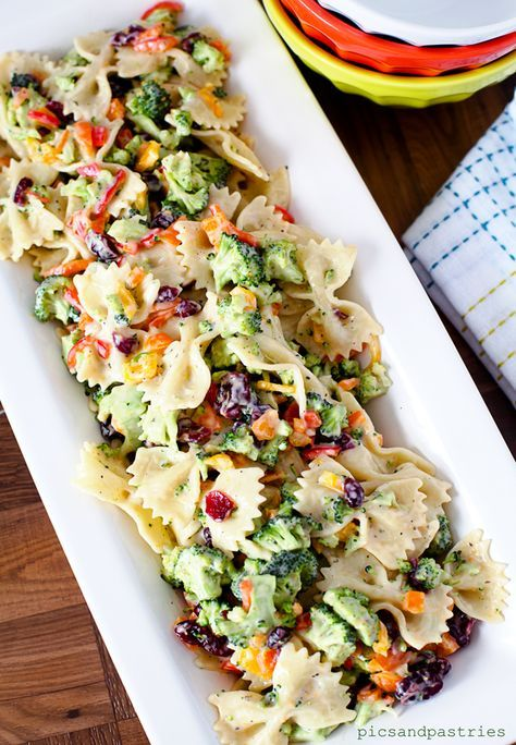 Broccoli Pasta Salad Save Recipe Print Ingredients Approximately 7 sweet mini peppers (oran...