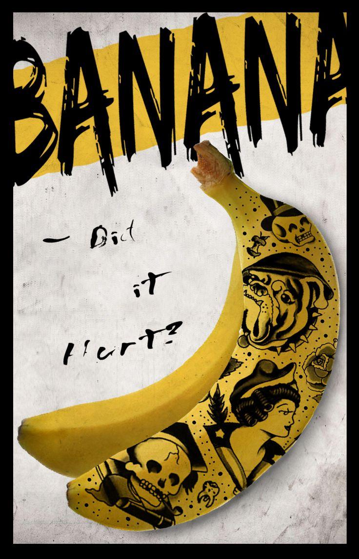 """Плакат к тату-студии """"BANANA"""""""