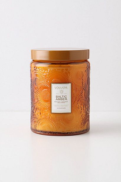 Voluspa Cut Glass Jar #anthropologie Love this smell! I have it burning all the time!
