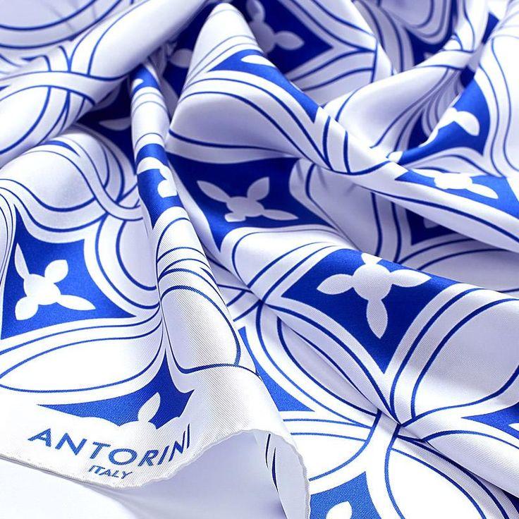 ANTORINI Geometrico Luxury Silk Scarf XVIII