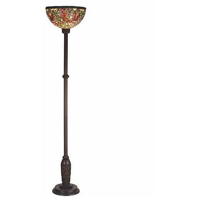 Meyda Romance Rose Bronze Floor Lamp