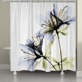 Laural Home X-Ray Azalea Flower Shower Curtain | Overstock.com Shopping - The Best Deals on Shower Curtains