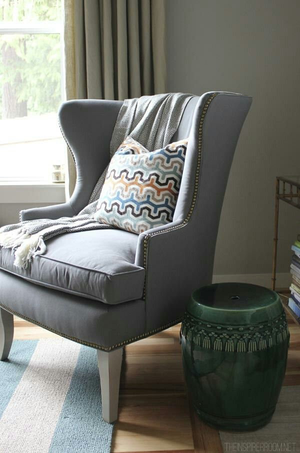 Wingback chair home pinterest chairs and wingback chairs for Indoor furniture design