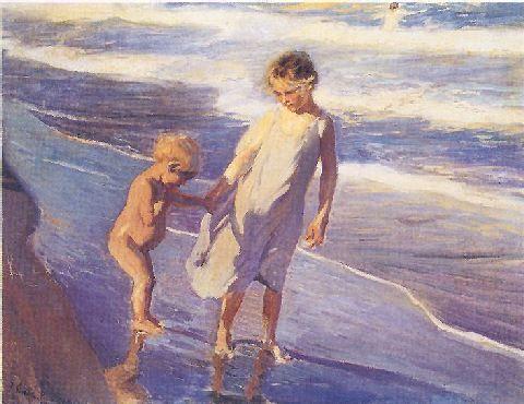 Niños y el mar
