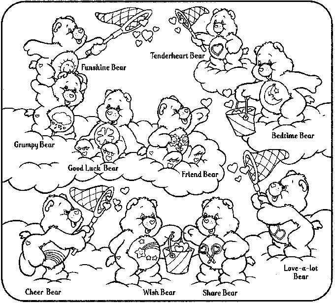 the care bears coloring pages - photo#18