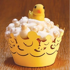 Rubber Ducky #Cupcake wrappers. How adorable is this?! #TheCupcakeRecipes: Cupcake Wrappers, Baby Shower Cupcakes, Yellow Cupcakes, Cakes And Cupcakes, Cupcake Decorations, Vanilla Cupcake, Cupcakes Decorating, Cupcakes Cookies Cakes, Ducky Cupcake