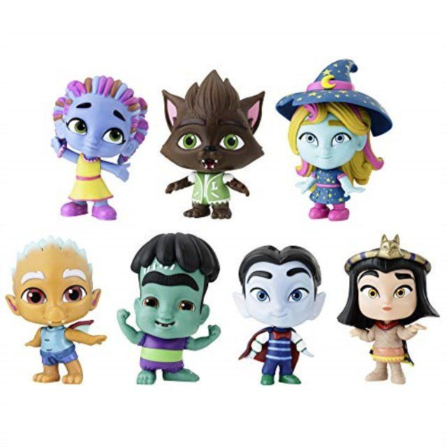 Netflix Super Monsters Figures Monsters Up Collection 7 Pack Toys Ages 3 And Up Walmart Com Monster Birthday Parties Monster Birthday Monster Coloring Pages