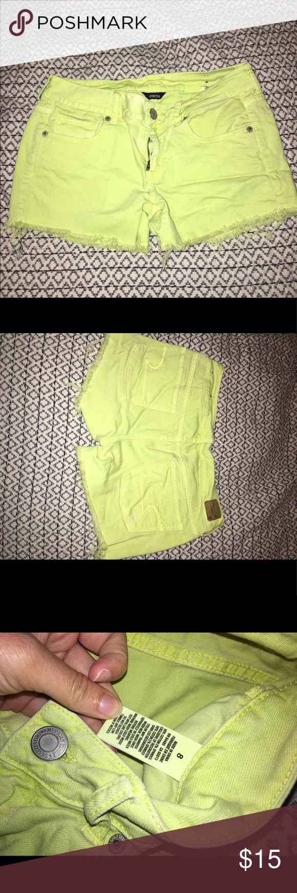American Eagle Neon Yellow Shorts Great condition - only worn a handful of times. American Eagle Outfitters Shorts