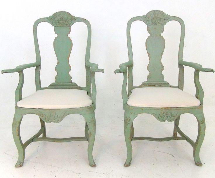 Par of Swedish armchairs, 19th C. http://www.selected-antiques.dk/11437-2v-------two-swedish-armchairs-19th-c1
