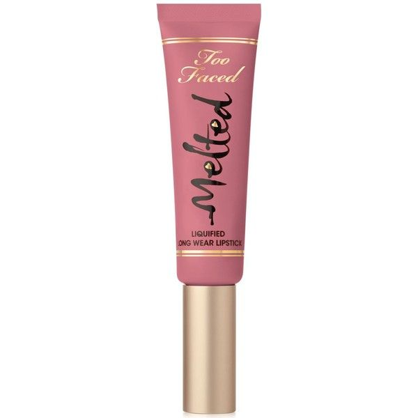 Too Faced Melted Liquified Long Wear Lipstick found on Polyvore featuring beauty products, makeup, lip makeup, lipstick, lips, melted frosting, lip gloss makeup, too faced cosmetics, lips makeup and long wear lipstick