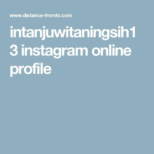 intanjuwitaningsih13 instagram online profile