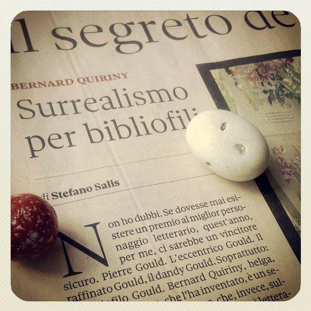 16 Marzo 2014: sulla Domenica - Il Sole 24 ORE, Stefano Salis incorona Pierre Gould «miglior personaggio letterario» dell'anno.