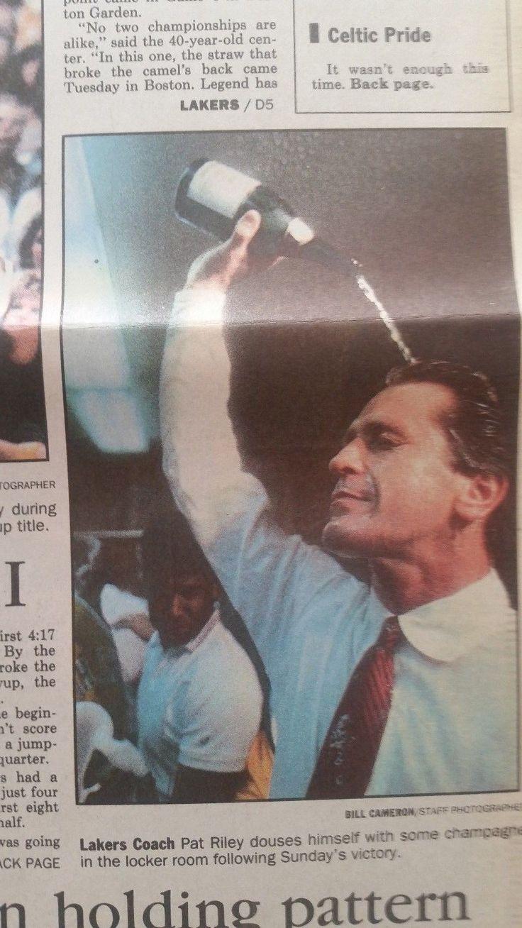 James Worthy LARRY BIRD  1987 NBA Championship LA Lakers win BOSTON4 games to 2