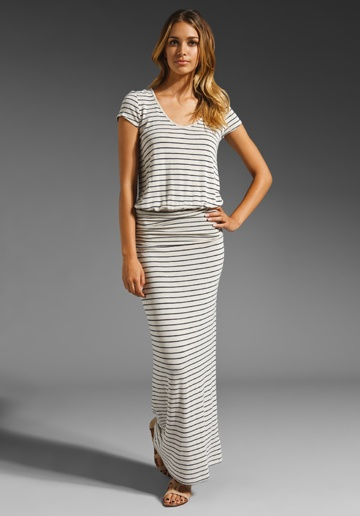 SOFT JOIE Wilcox B Nautical Maxi Dress in Natural/Dark Navy at Revolve Clothing - Free Shipping!